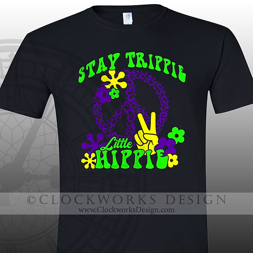 Stay Trippie Little Hippie,70s shirt,seventies,shirts with sayings,shirt
