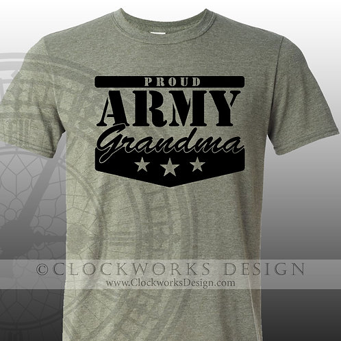 Proud Army Grandma,Personalized Shirts.family shirt,military shirts,