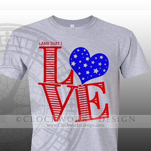 Land that I Love,4th of July shirt,shirt for her,usa,red white and blue