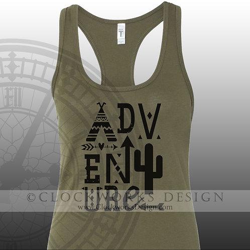Adventure,shirt,shirts with sayings,camping,tent,cactus,arrow,shirt