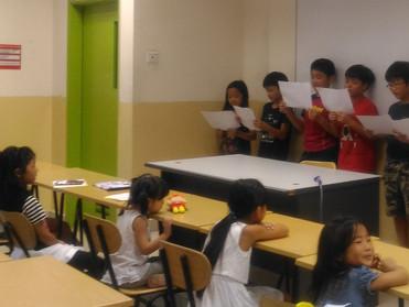 平成29年度2学期学習発表会、クリスマスの会