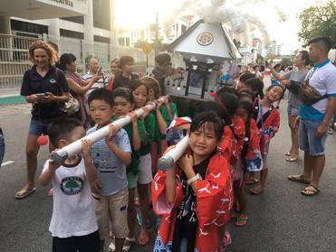 第5回ペナンよさこいパレード水かけ神輿参加