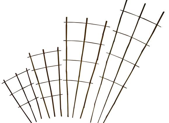 "24"" Natural Bamboo Fan Trellis 50/bale"