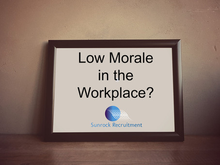 Low Morale in the Workplace?