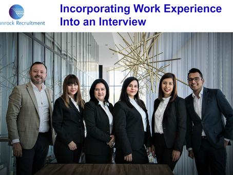 Incorporating Work Experience Into An Interview