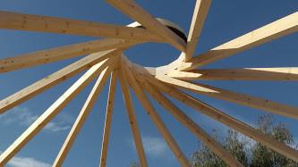 Shahar's Reciprocal Frame Yurt