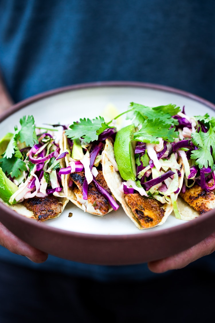 cilantro cabbage fish tacos