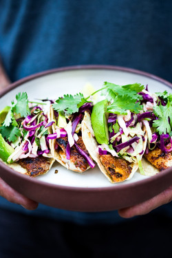cilantro cabbage fish tacos