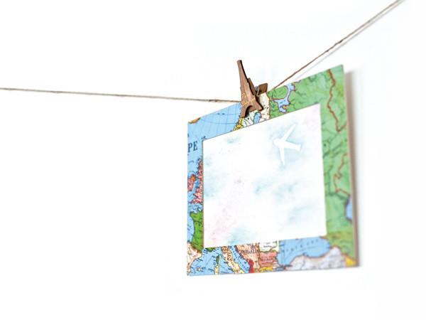 文具手帖|擁有地圖畫框的夢幻水彩風旅行掛畫