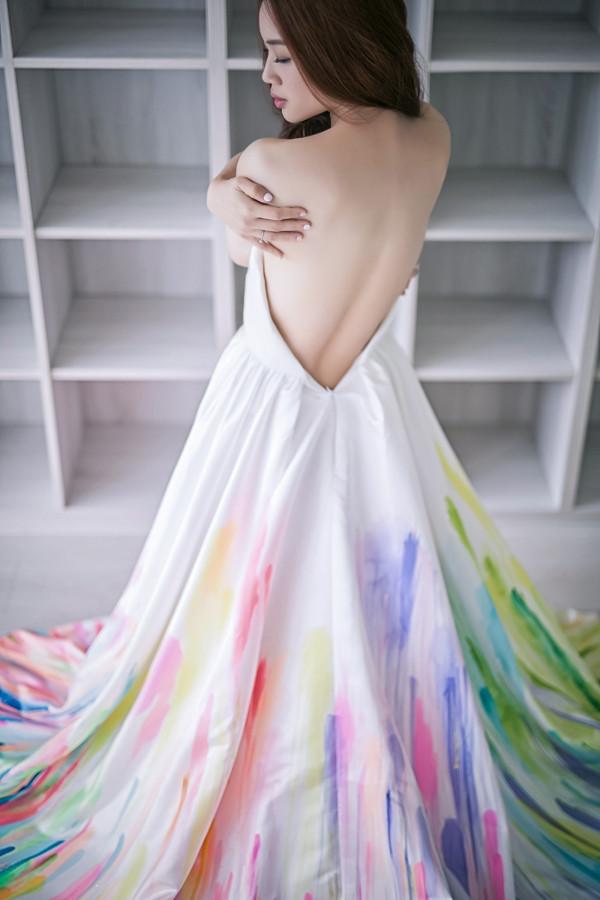 婚紗|穿上自己親手畫的命定婚紗