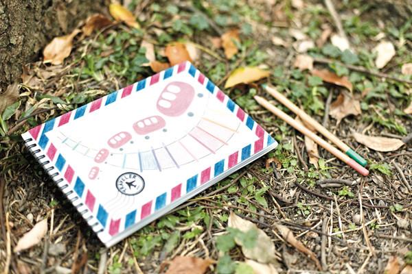 文具手帖|帶著水彩色鉛筆去旅行的旅行日記封面
