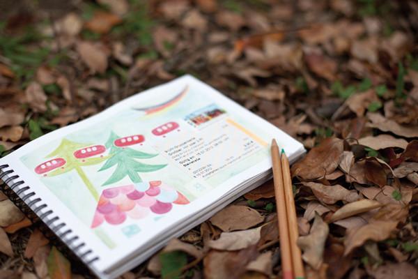 文具手帖|用水彩色鉛筆畫旅行日記