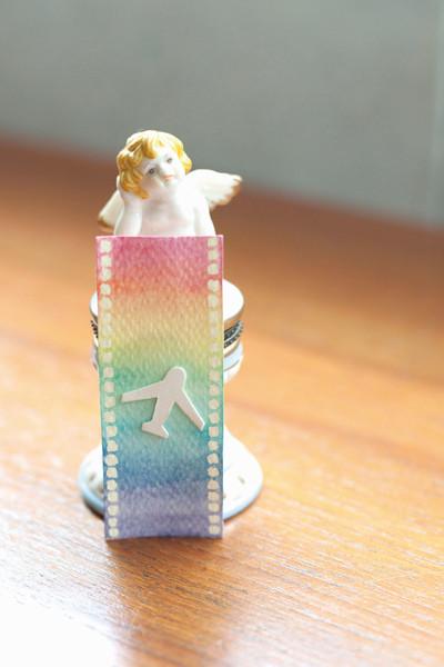 文具手帖|用水彩讓底片顯影的禮物吊卡