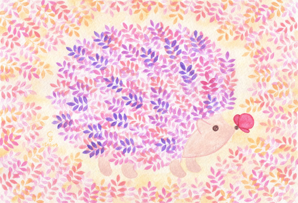 hedgehog@克里斯多插畫森林