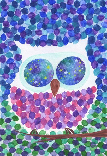 owl@克里斯多插畫森林