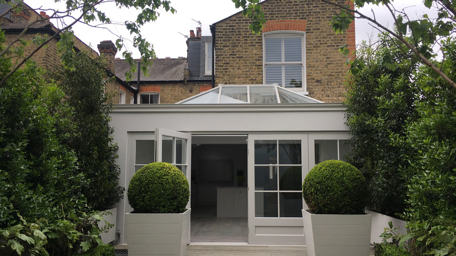 Barnes orangery and basement to Victorian end of terrace