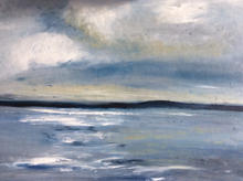 ''Cloudy skies'  Morston harbour