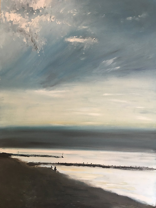 'Sheringham shoreline at dusk'