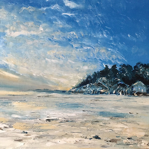 Limited edition print of Wells beach 'There's always the beach'.