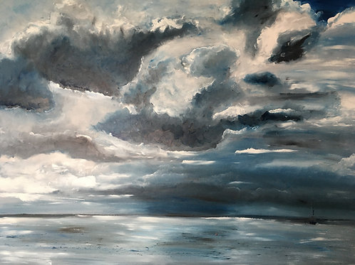 'The beauty of a storm' Morston harbour
