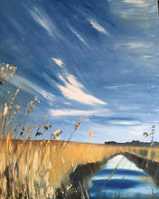 'Feather skies' Salthouse reedbeds - oil