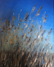 'The whisper of the reeds' oil on board