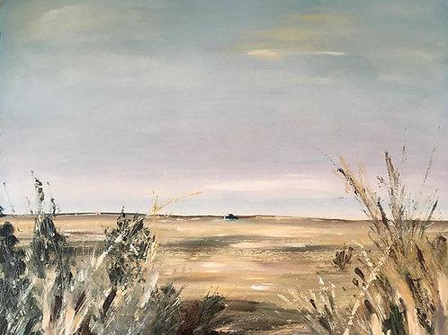'Starting over' towards Blakeney point from Morston marshes.