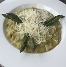 Asparagus risotto a Salute to spring