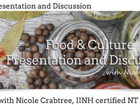 FOOD & Culture Nutritional Therapists discuss meeting client needs across cultures