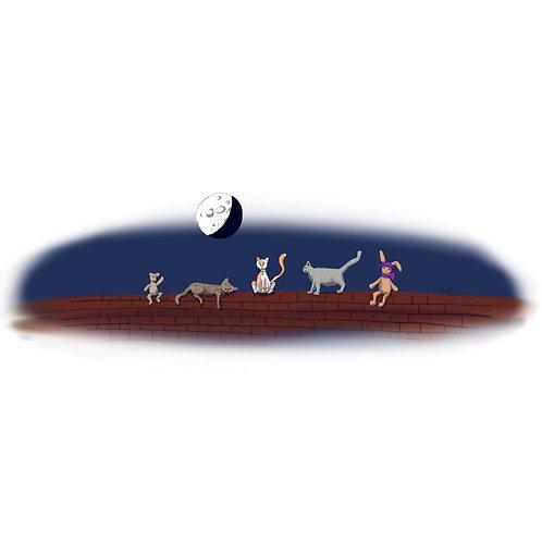 M3: B&B cats & moon