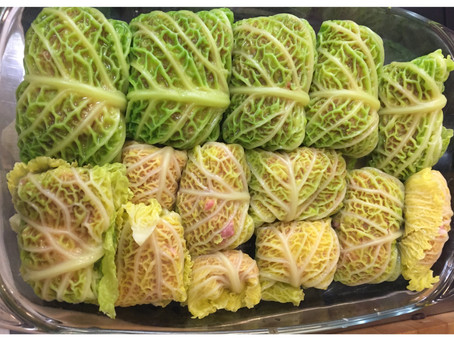 Голубцы – stuffed cabbage rolls a personal winter comfort food