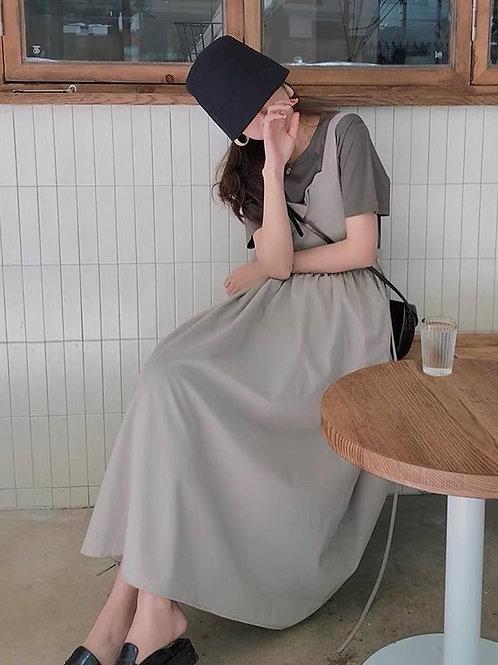 SH991 文青氣質百搭吊帶裙
