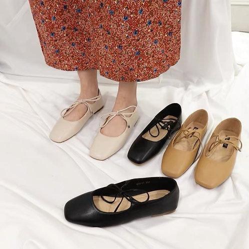 SH213 韓版簡約蝴蝶結平底鞋