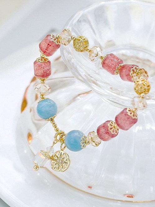 CR137 「愛情運」草莓晶手鍊