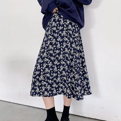 SH501 秋季舒適感碎花半身裙