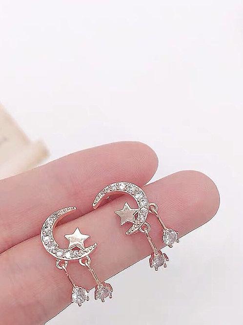 少女清新氣質耳環 (925銀針/耳夾)