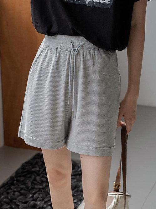 SH216 休閒條紋舒適感短褲
