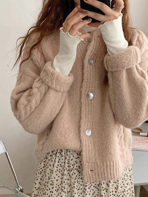 SH605 秋冬粉色系針織上衣