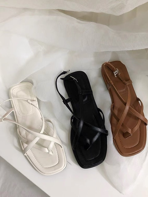 SE361 復古線條感軟底涼鞋