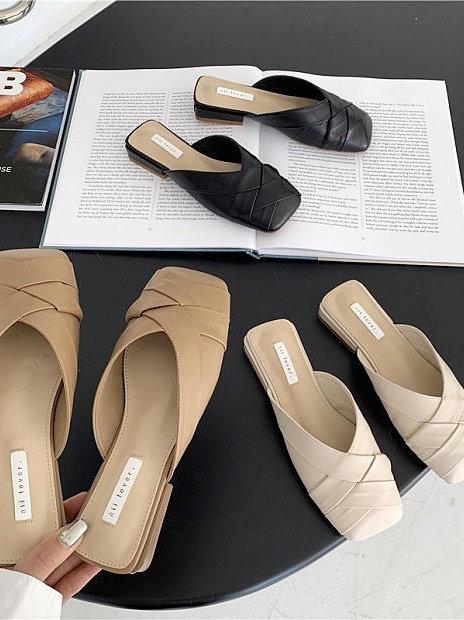 SE302 簡約麻編休閒拖鞋