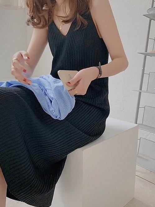 SH967 休閒條紋針織連身裙
