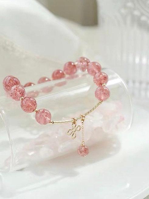 CR103 「愛情之石」草莓晶手鏈