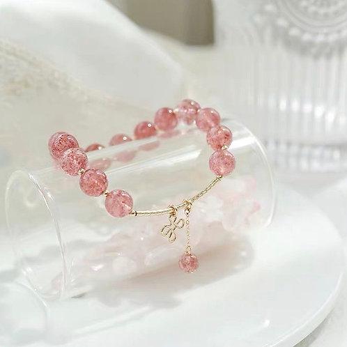 CR103 「愛情之石」草莓晶項鍊