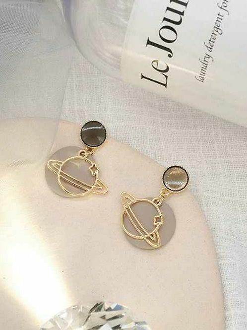 韓風簡約星球耳環 (925銀針/耳夾)