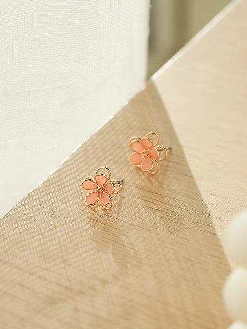 ER013 日系精緻花朵耳環(925銀針/耳夾)