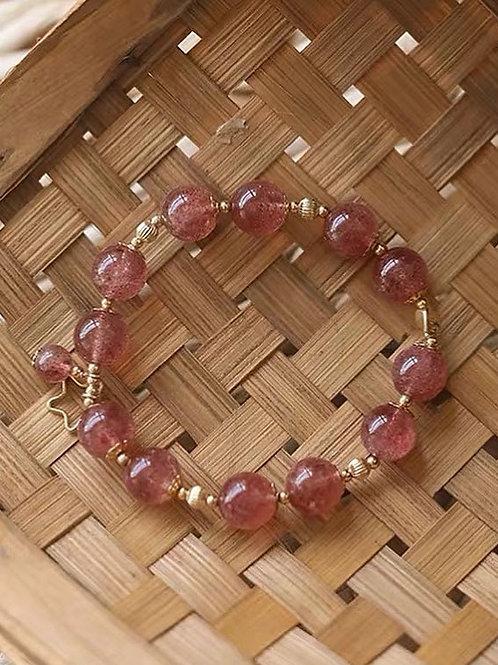 CR152 「愛情運/消除負能量」草莓晶手鏈