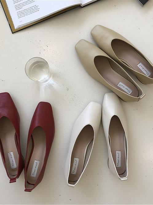SE121 簡約純色方頭鞋