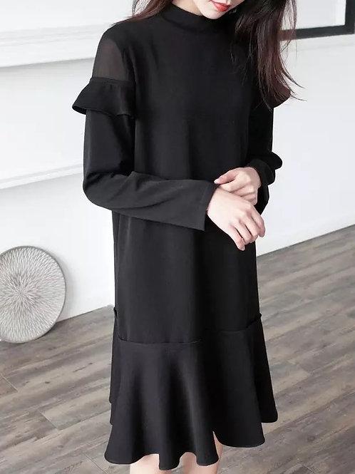 超氣質荷葉邊連身裙