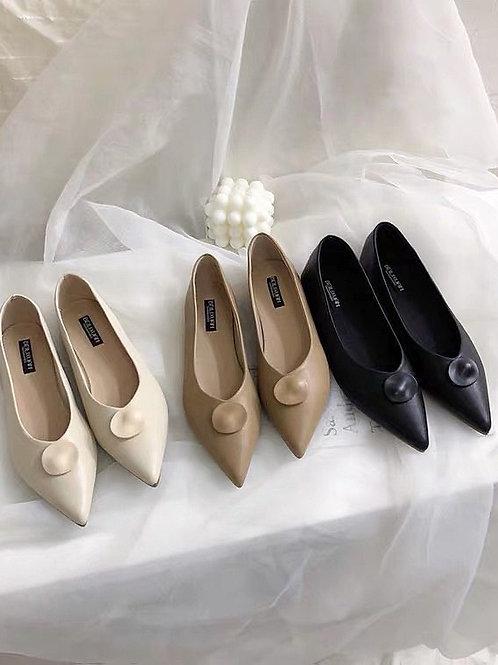 SE283 幾何圖案設計尖頭鞋
