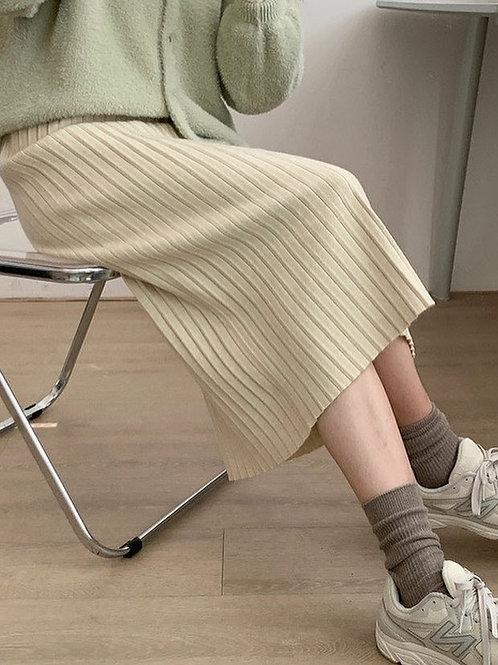 SH612 秋冬針織百搭半身裙